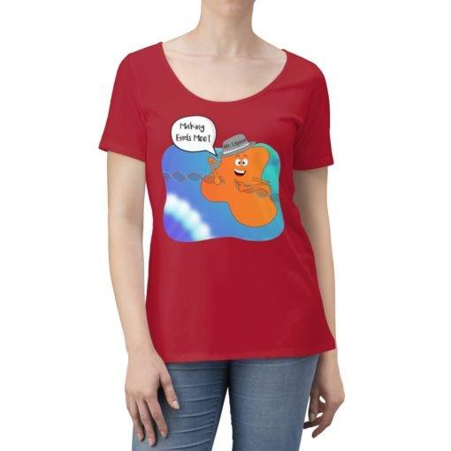 Science Scoop Neck T-shirt